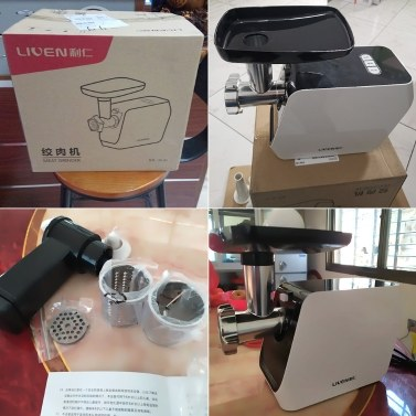 Xiaomi Youpin Liven Multifunktionale Fleischwolf Haushaltskochmaschine Fleischwolf Wurstmaschine Babynahrungsmaschine Mit Edelstahlklinge 500W 220V