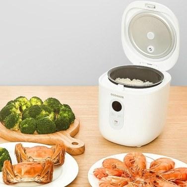 Qcooker Mini Rice Cooker 1.2L