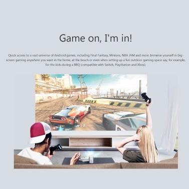 Globale Version XGIMI XJ03W MOGO DLP 3D Projektor 960 X 540P Unterstützung 4K 210Ansi Lumen Android 9.0 2 + 16GB Dual-Band 2,4 & 5GHz Google Assistant TV Tragbarer Projektor Mit 10400mAh Akku 100-240V mit AU UK EU US-Stecker