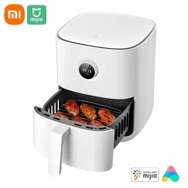Smart Air Fryer 3.5L 1500W Духовка с ручкой управления / настраиваемый экран OLED-дисплея / напоминание о встряхивании / 24-часовая встреча / 50 + рецептов, работающих с приложением  для жарки на воздухе / запекания / сохранения тепла 220V