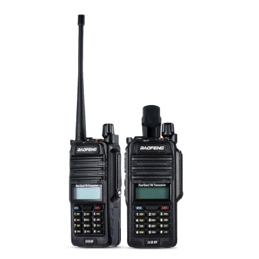 Original BAOFENG UV-5R WP IP67 Waterproof DMR Digital Transceiver Mobile 2-way Radio Walkie Talkie  VHF/UHF Dual Band Handheld Transceiver Interphone LCD FM Radio Receiver 5W 128 Memory Channels DTMF Encode Emergency Alarm VOX Stand