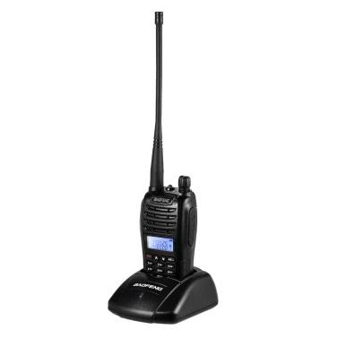 BAOFENG B6 Transceiver Mobile 2-wege Radio Walkie Talkie VHF / UHF Dual Band Handheld Transceiver Sprech mit LCD FM Radio Empfänger mit Ständer