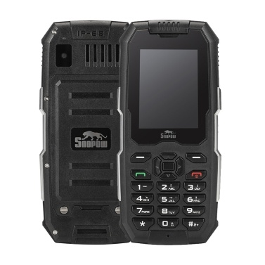 Snopow M2 2G robustes Eigenschaften-Handy IP68 imprägniern staubdichten stoßfesten Lautsprecher 2500mAh 2.4inch G / M