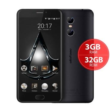 "uleFone Zwillinge 4G FDD-LTE Smartphone MTK6737T 64-Bit 1,5 GHz Quad-Core 5,5 ""FHD 1920 * 1080P Schirm Android 6.0 3GB RAM 32GB ROM Vorderseite 5MP Zurück Dual-5MP 13MP-Kameras Fingerabdruck-OTG gebürstetes Metall Körper 3250mAh Akku"