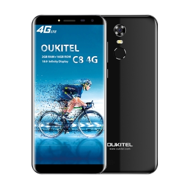 OUKITEL C8 4G Telefon komórkowy 18: 9 5.5 Cal HD 2 GB RAM 16 GB ROM