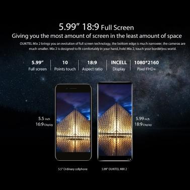 OUKITEL MIX 2 5.99 inches Smartphone  6GB RAM 64GB ROM