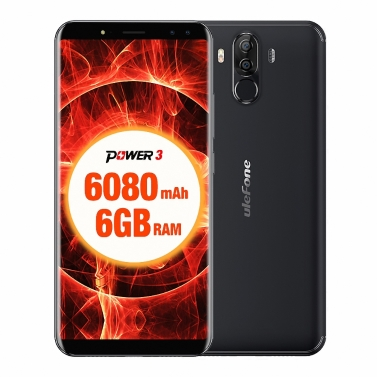 39% OFF Ulefone Power 3 Face ID 4G Smartphone 6GB+64GB 6080mAh,limited offer $219.99