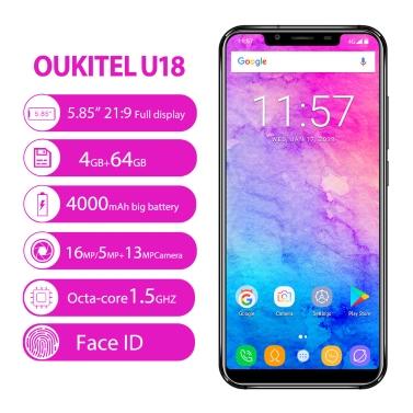 OUKITEL U18 5.85-inch 21:9 Bezel-less 4G Fingerprint Mobile Phone 4GB RAM 64GB ROM