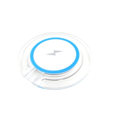 Drahtloses Ladegerät Pad Kristall Samsung Apple Iphone Fahrzeug Sender QI Standard Transparent