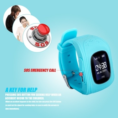 0.96inch LCD Screen Kids Smart Watch Phone for Girls Boys Children Gifts LBS Tracker Locator Real-time Location Smartwatch with SIM Card Slot Remote Monitor Call SOS Alarm Suitable for iOS Android Smartphones