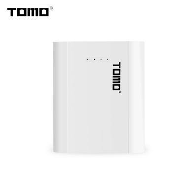 TOMO P4 18650 Li-Ion-Akkuladegerät Micro-USB-Eingang Dual Output Smart Power Bank Tragbares Ladegerät für Mobiltelefone