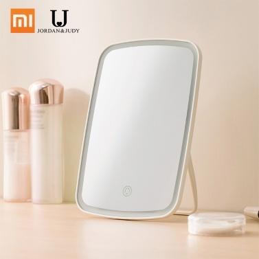 Xiaomi Mijia Specchio per trucco a LED con controllo dell'interruttore a tocco di luce Trucco portatile naturale Led Dormitorio leggero Specchio da tavolo 1200mAh