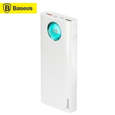 Xiaomi Baseus Портативное зарядное устройство Power Bank PD3.0 + QC3.0 20000 мАч Источник питания Внешняя батарея Двухсторонняя быстрая зарядка Тип-C Интерфейс USB Зарядка-сокровище Совместимо для iPhone Samsung Huanwei