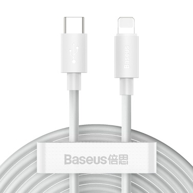 Baseus Charger Cable 20W PD Fast Charge USB C Lighting Cable Compatible iPhone 12 11 8 Xr Charger Data USB Type C Cable