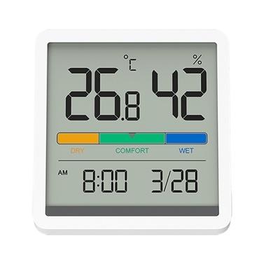MIIIW Komfort Temperatur- und Feuchtigkeitsuhr Digitaler Hygrometer Wecker Innenthermometer Feuchtigkeitsmonitor Sm