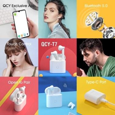 QCY T7 TWS Ohrhörer Ohrhörer Headset Mit Mikrofon