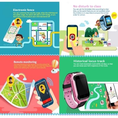 1.44-inch TFT Touch Screen Kids Smart Watch Phone for Children Girls Boys