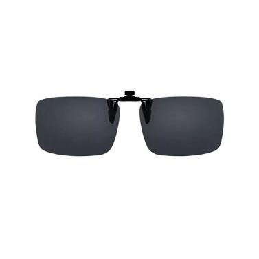 Clip per occhiali polarizzati UREVO Occhiali da sole polarizzanti Occhiali per la visione notturna Lente TAC Anti-UV Antiriflesso 8g Lente regolabile a 180 ° leggera per conducenti di auto all