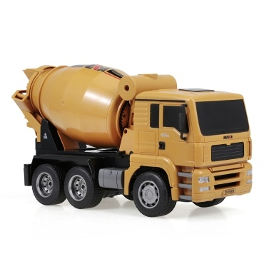HUINA 1333 1:18 2.4G Concrete Mixer Engineering Truck Light Construction Vehicle Toys for Children