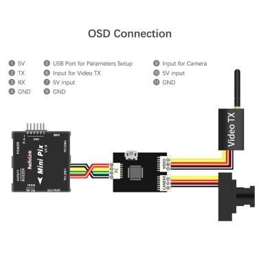Radiolink Mini OSD Module for Image Transmission Mini PIX Pixhawk Flight Controller Board RC Racing FPV Drone