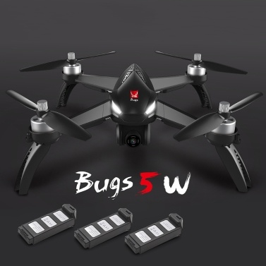 MJX Bugs 5W 5G Wifi FPV RC Drone Quadcopter with 3 Batteries