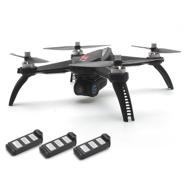 MJX Zangão Quadcopter do zangão de 5W 5G Wifi FPV RC com 3 baterias