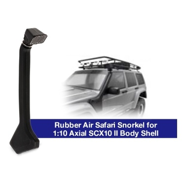 1:10 Rubber Air Safari Snorkel for Axial SCX10 II 90046 90047 Cherokee Body Car Shell RC Crawler Off-Road Buggy Truck Car