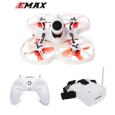 EMAX Tinyhawk II Indoor FPV Racing Drone High Speed 50 KM/H F4 5A Brushless Drone with Camera 700TVL Quadcopter FPV Glasses RTF