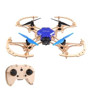 ZL100 Holzflugzeug DIY Drohne 2.4G Höhenstand Quadcopter (mit LED-Licht)