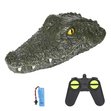 JJRC RC Boat Simulation Crocodile Electric Racing Boat for Pools 2.4G Remote 2CH Control Spoof Toy