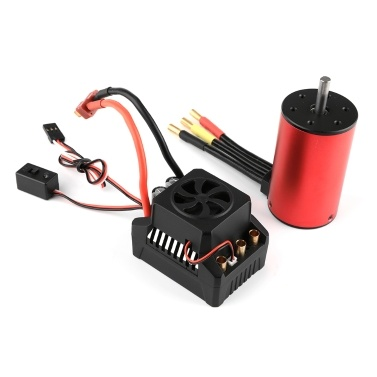 GoolRC 3660 3300KV Brushless Motor 60A Brushless ESC Electronic Speed Controller 6V/3A BEC for 1/10 RC Car Crawler Truck