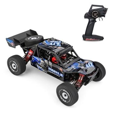 Wltoys 124018 1/12 2.4GHz 60km / h Auto da corsa fuoristrada Drift Car RTR 4WD con telaio in lega di alluminio Ingranaggio in lega di zinco