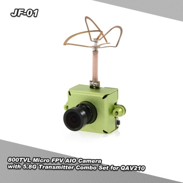 JF-01 800TVL CMOS Micro FPV AIO Camera 5.8G 25mW 40CH Video Transmitter Combo Set QAV250 210 180 RC Quadcopter Drone