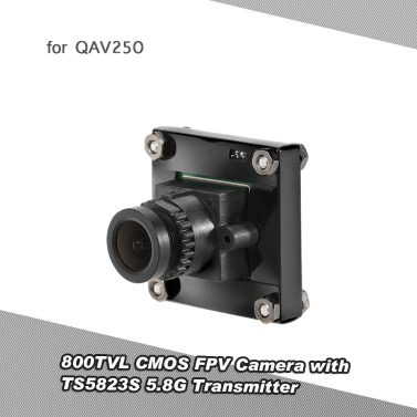 800TVL CMOS FPV Camera PAL System TS5823S 5.8G 200mW 40CH AV Transmitter Combo Set QAV250 FPV Racing Drone RC Quadcopter