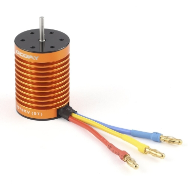 OCDAY 9T 4370 KV 4 Poles Sensorless Brushless Motor for 1/10 RC Car Truck Boat