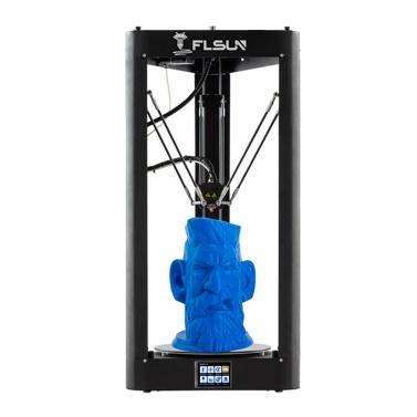 Impresora 3D FLSUN QQ-S-Pro Delta Φ255 * 360 mm Tamaño de impresión grande Impresión silenciosa