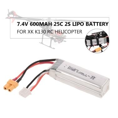 7,4 V 600 mAh 25C 2S Lipo-Batterie