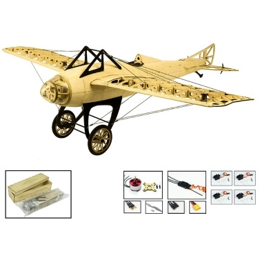 S2201 Balsa Wood RC Airplane 1000mm Electric Powered D.M Deperdussin Monocoque Unassembled RC Aircraft(KIT Version)