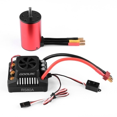 GoolRC 3660 3800KV Brushless Motor 80A ESC Brushless Electronic Speed Controller 6V/3A BEC for 1/10 RC Car Crawler Truck
