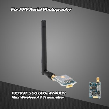 FX799T-6 5.8G 600mW 40CH Mini Wireless AV Transmitter with 5V Output for FPV Aerial Photography