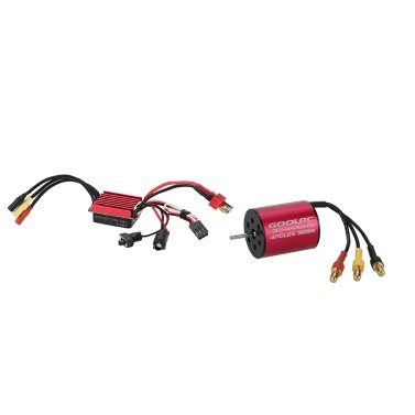 Original GoolRC S2430 7200KV Sensorless Brushless Motor and 25A Brushless ESC Combo Set for 1/16 1/18 RC Car Truck