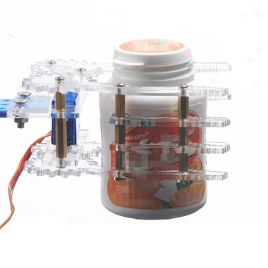 1set Acrylic Robot Arm Clamp Claw Mount Kit