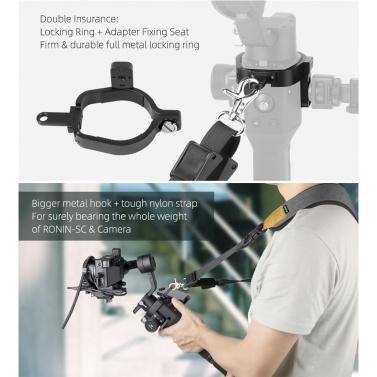 Sunnylife Lanyard Schultergurt mit Sicherungsring Kompatibel für DJI Ronin-SC