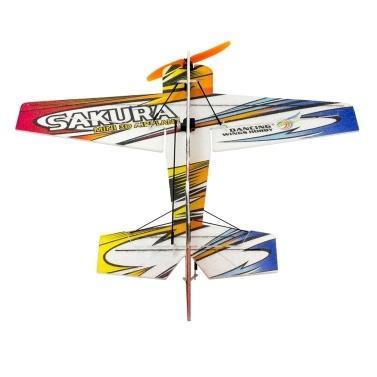 DWH E210 SAKURA RC Airplane Outdoor Flight Toys DIY Assembly Model No Battery(KIT Version)