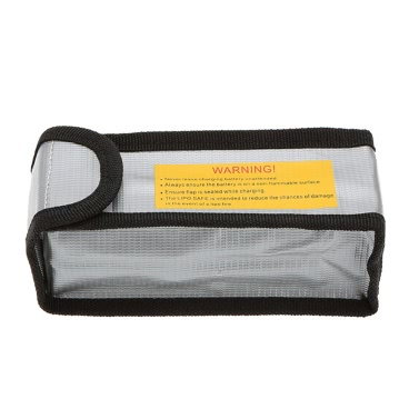 15 * 6.4 * 5cm Silver High Quality Glass Fiber RC LiPo Battery Safety Bag Safe Guard Charge Sack