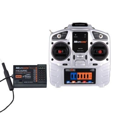 MC6C 2.4G S-FHSS 6CH Mode 2 Transmitter with MC6RE 6CH Receiver for RC Fixed-wing Quadcopter Multicopter Drone