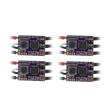 4Pcs EMAX 12A Brushless ESC Bullet Series BLHeli-S Dshot 2-4S Electric Speed Controller for 88 90 100 FPV Racer