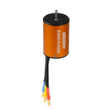OCDAY 1/10 B3650 5200KV 4P Sensorless Brushless Motor CNC for 1/10 RC Car