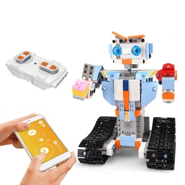 351PCS 2.4GHz Remote Control Robot RC Building Block Robot App Controlled Educational RC Robot