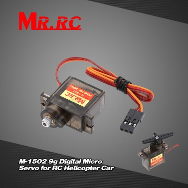 MR.RC M-1502 9g Full Metal Gear Digital Micro Servo for RC 250 450 Helicopter Car